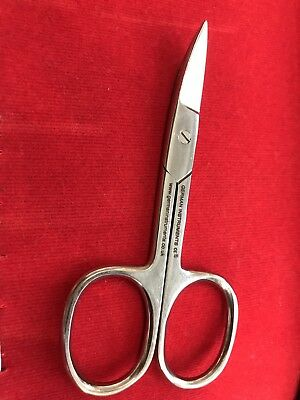German® SHARP CURVED EDGE CUTICLE NAIL SCISSORS ARROW POINT GOLD SILVER STEEL