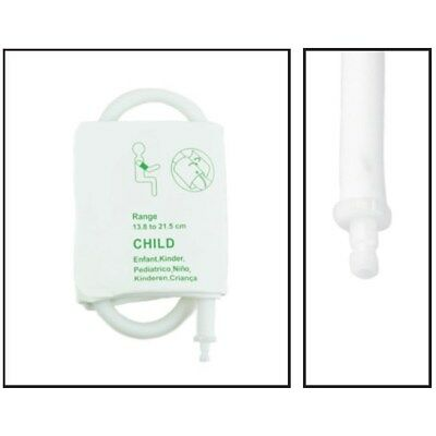 PacMed Cables NiBP Single Tube Pediatric Disposable TPU Blood Pressure Cuff 5PK