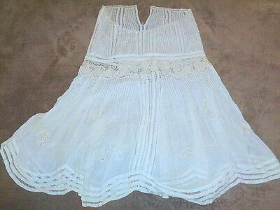 Antique Lace Peasant Skirt Bohemian w Intricate Design