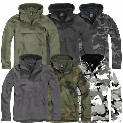 Brandit Windbreaker Jacket Anorak Hooded Wind-Proof Weather-Proof Fleece Lining