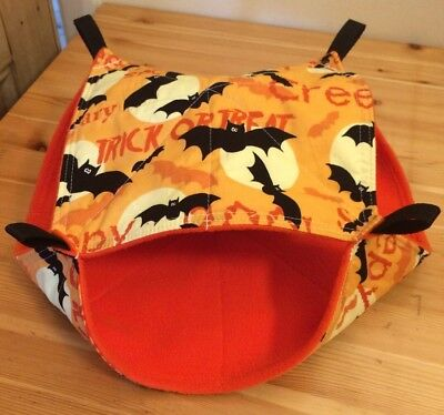 New Double Decker Quilted Hammock For Rats+small Animals. Halloween Bats 🕷🕸