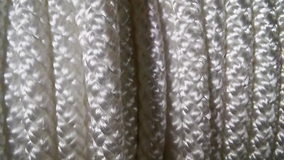 "3/8"" x 100 ft. Diamond Braid Polyester Rope. White. Made in USA"
