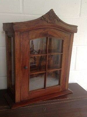 Reproduction Wooden Wall Display Cabinet With Glazed Door