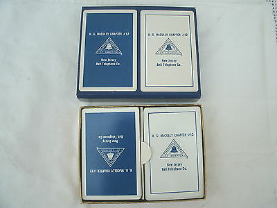 New Jersey Bell Telephone--Playing Cards--H.G.McCully Chapter #12---[2 Dks]