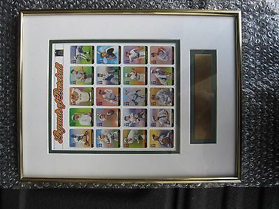 Ledgends Of Baseball Usps Stamps Framed Matted