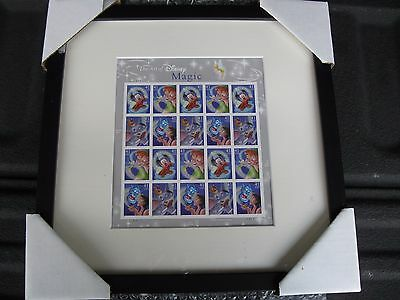 Disney Magic Usps Stamps Framed Matted