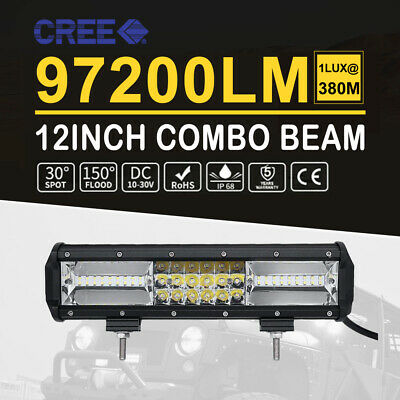 15inch 1512W CREE LED Work Light Bar Quad Row Off Road Truck Boat 16'' Wiring AU