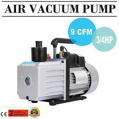 Electric 9 CFM Rotary 3/4HP Air Vacuum Pump HVAC Refrigerant Conditioning A/C