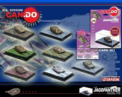 DRAGON ARMOR 1/144 Can.Do WWII Jagdpanther tank destroyer SET OF 7 WITH SPECIAL