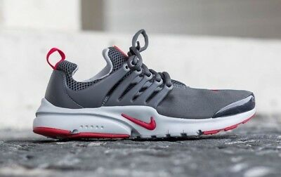 Nike Presto (GS) 833875-005 Anthracite/Gym Red-Wolf Grey Youth Boy's Running NEW
