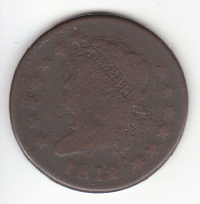 1812 Classic Head Large Cent VG  Free Shipping