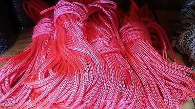 3/8 x 100 ft. Pre-Cut double braid~yacht braid polyester rope hank.Pink