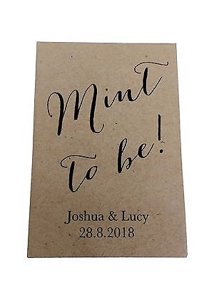 10 x MINT TO BE Seed Wedding Favour Vintage Personalised inc's Seed & Packet