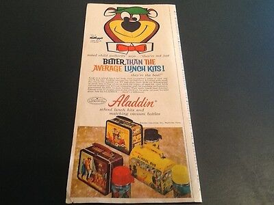 1961 ALADDIN School Lunch Boxes Kits Vintage Mag Print AD YOGI Bear Nashville