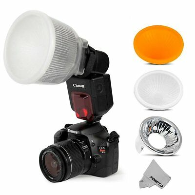 Fomito Universal Cloud Lambency Flash Diffuser + 3 pcs Covers White, Silver & Or