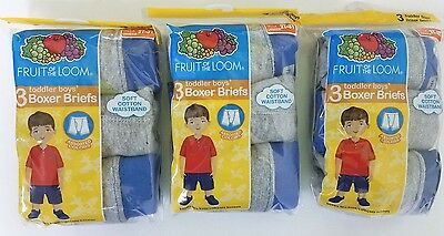 Fruit of the Loom Toddler Boys Boxer Briefs 3 Pk Size 2T-3T (3 pks together)