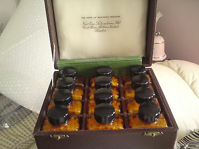 Vintage Case Set The Home Of Biochemic Medicine, Ultra Rare Set With Book...
