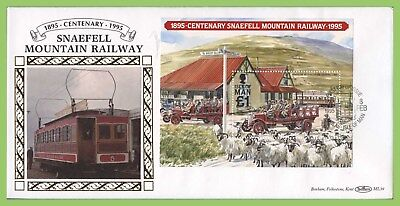 Isle of Man 1995 Snaefell Mountain Railway M/S on Benham First Day Cover