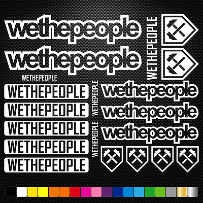 WE THE PEOPLE  aufkleber sticker set abziehbild decal fahrrad bike mtb bmx road