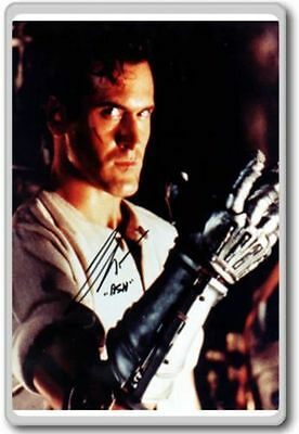 Bruce Campbell Ash (Army Of Darkness) Autographed Preprint Signed Photo Fridg...