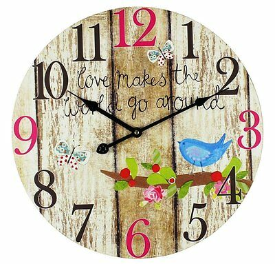 LOVELY Wall Clock Analog Mechanism for Your Hallway Living Room Kitchen