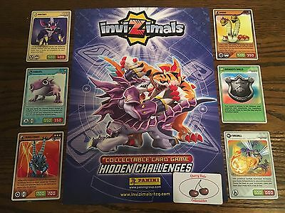 From 16p Each Panini INVIZIMALS Hidden Challenges Base Cards, Choose From List