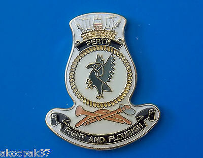 Hmas Perth D 38  Lapel Badge Enamel With Gold Plating 20Mm High Perth Class