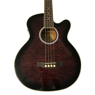 Coban Bass CGAB11 4eq Electro Acoustic Bass  Purple Burst Maple Flamed in Gloss