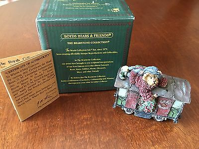 Boyds Bears Boxcar Chillie - Christmas Train Figurine