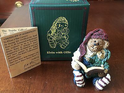 Boyds Bears - Elvin with Ollie Holiday Figurine