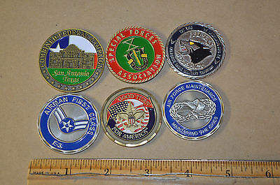Lot of 6 Challenge Coin Air Force Special Forces CFC #1843