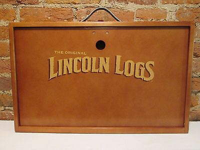 NEW- Original Lincoln Logs Collectors Edition Numbered Set w/ Wooden Carry Case