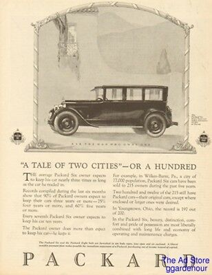 1925 PACKARD Six Limousine-Tale of Two Cities Wilkes-Barre PA/Youngstown OH Ad