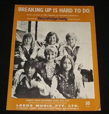 PARTRIDGE FAMILY AUSSIE SHEET MUSIC 1970s  DAVID CASSIDY POP