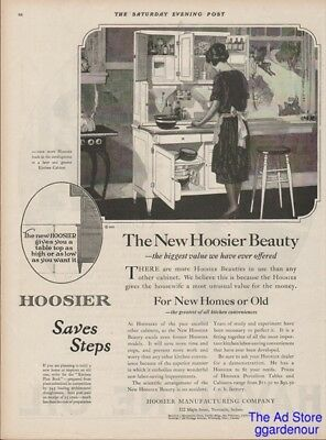 1922 Hoosier Cabinet New Castle IN Indiana Antique Kitchen Decor New Beauty Ad
