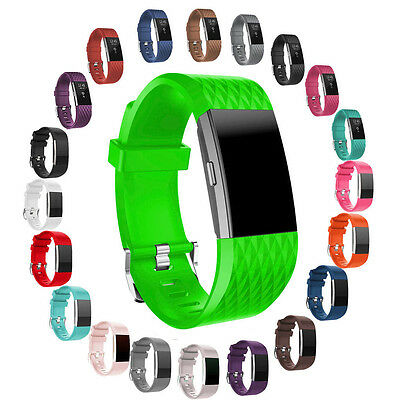 Replacement Silicone Rubber Band Strap Wrist Bands Bracelet FOR Fitbit Charge 2