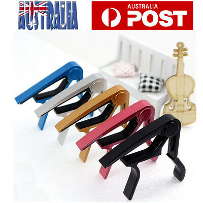 Aluminum Guitar Capo Electric Acoustic Quick Change Release Spring Trigger