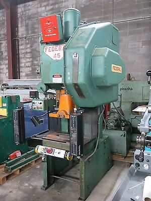 "Federal 45 Ton Air Clutch Punch Press 3"" Stroke"