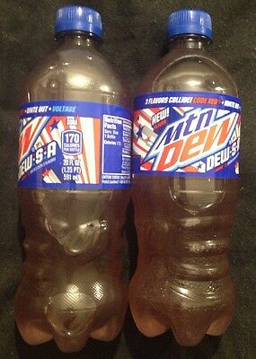 Dew.s.a.🇺🇸6-Full Bottles Mtn Mountain DewSA Code Red,White Out,voltage 🎉20oz