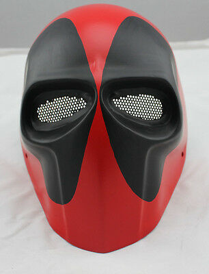 Strong Fiber Resin Wire Mesh Eye Airsoft Paintball Full Face Protection Mask NEW