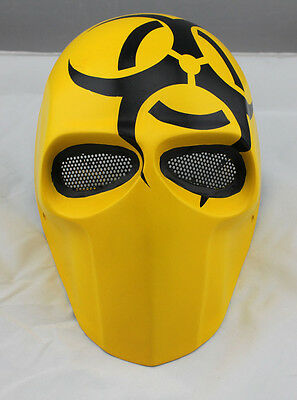 Durable Fiber Resin Mesh Eye Airsoft Paintball Full Face Protection Skull Mask