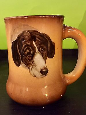 ATG Taylor & Smith Transferware HOUND DOG PORTRAIT Tankard BEER STEIN Breweriana