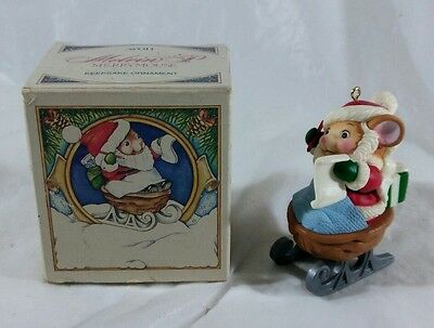 NIB: Vintage Avon Melvin P. Merrymouse Keepsake Ornament/1983/Christmas