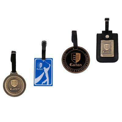 Golf Bag Tag Luggage Travel Bag Tag Label Hanging Decors Four Patterns