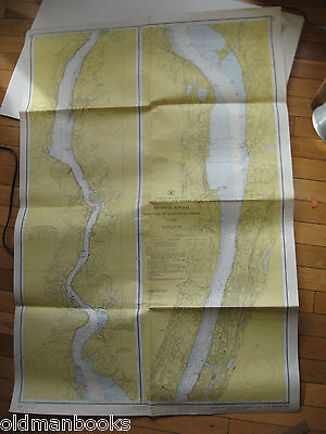 1950 Nautical Chart Map Hudson River New York Wappinger Creek C&GS USGS