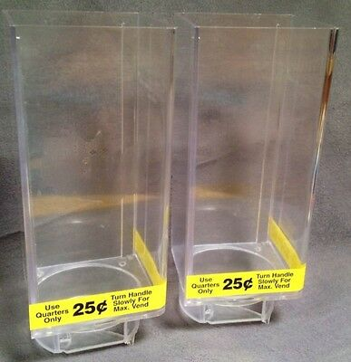 Set Lot of 2 Uturn U Turn Bulk Candy Vending Machine LARGE Canisters ~ PreOwned