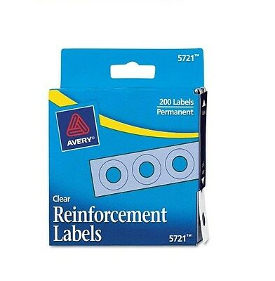 Avery Hole Punch Reinforcement Labels White 200 Count Clear - New Item