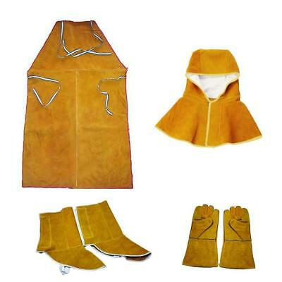 Orange Welder Apron Hood Gloves Shoes Cover Protective Gear Flame Resistant