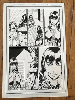 2006 DC Superman 223 Ra's Al Ghul daughter TALIA Blackrock ED BENES Original Art