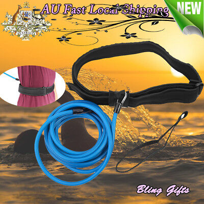 Swim Trainer Tether Belt Resistance Hydrotherapy Pool Training Harness AU Stock